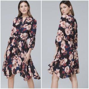 White House Black Market Floral Print Dress